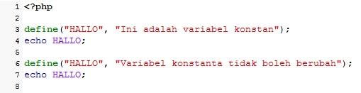 Perbedaan Variabel Dengan Variabel Konstanta