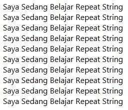String Repeat Pada PHP-2