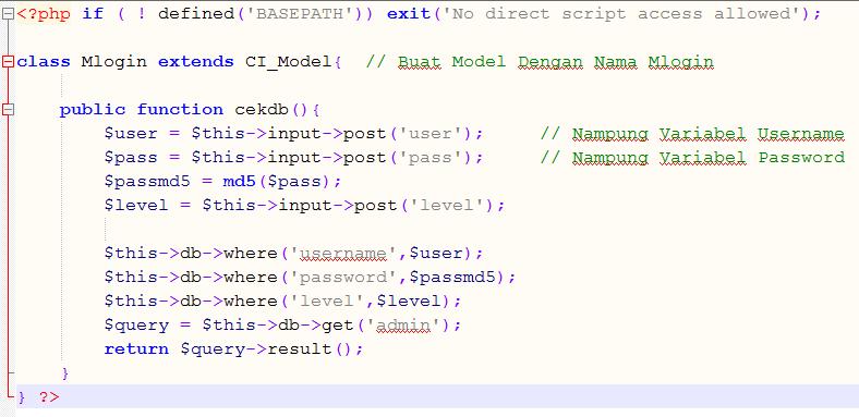 Multi Login CodeIgniter - Kursus Web Programming