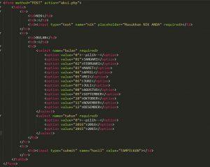 Study Kasus Pembuatan Laporan Periode Menggunakan PHP
