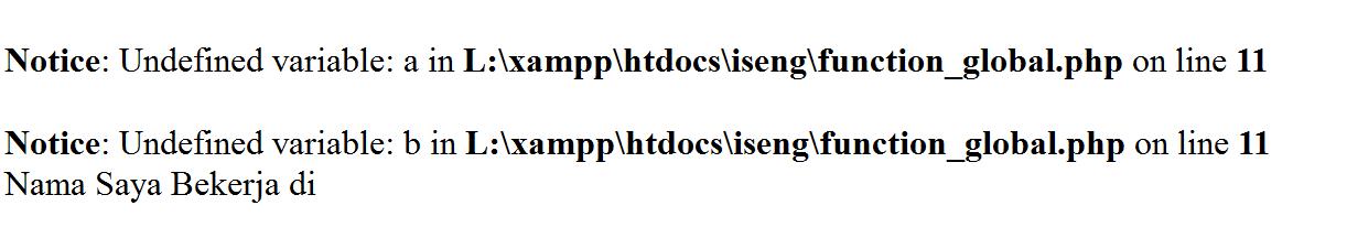 Mendeklarasikan Fungsi Global Pada PHP