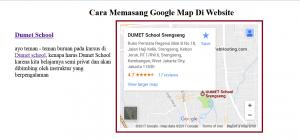 Menampilkan Google Map Dalam Website