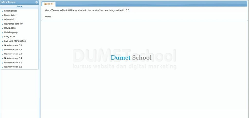 Cara Install Plugin Jquery JqGrid Demo Di Localhost