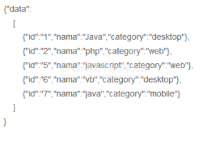 Cara Mengkonversi Data Di Mysql Menjadi Json Dengan Menggunakan PHP
