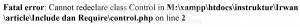Perbedaan Antara Include dan Require Pada PHP