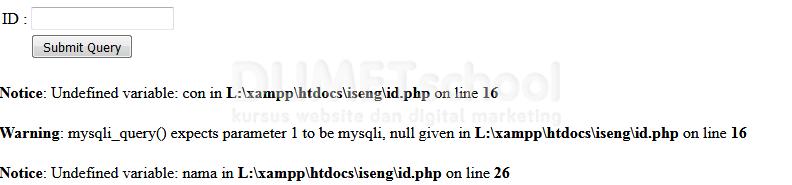 Cara Menyembunyikan Pesan Error Pada PHP
