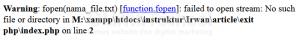 Mengenal fungsi Exit pada PHP