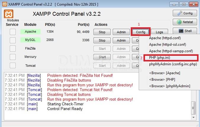 cara merubah memory limit di web server apache xampp
