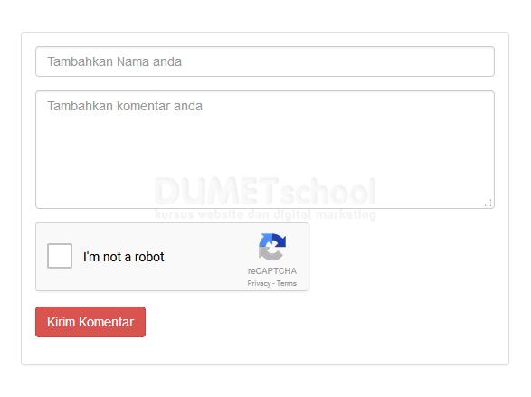Cara Mudah Membuat reCAPTCHA
