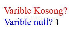 """Perbedaan NULL dan Value Kosong ("""""""") Pada PHP"""