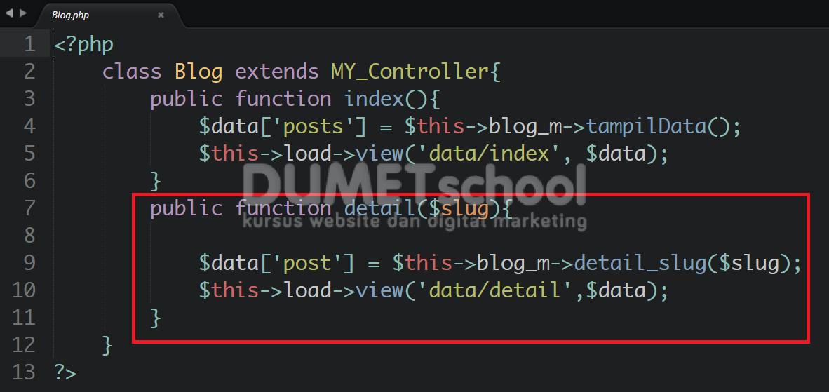 Cara Membuat URL SEO Friendly Menggunakan CodeIgniter part 2