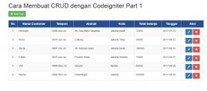 Cara Membuat CRUD dengan Codeigniter Part 2