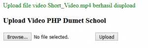 Cara Membuat Form Upload Video Dengan PHP