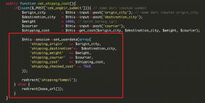 Cara Menampilkan Data Ongkir Pada Codeigniter