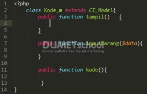 Cara Membuat Inputan Kode Otomatis Menggunakan Codeigniter Part 1