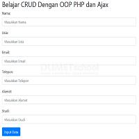 Belajar CRUD Dengan OOP PHP dan Ajax Part 1