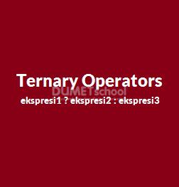 Cara Menerapkan Ternary Operators Di PHP