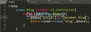 Cara Membuat Halaman Dinamis Dan Menu Active Menggunakan Codeigniter Part 2