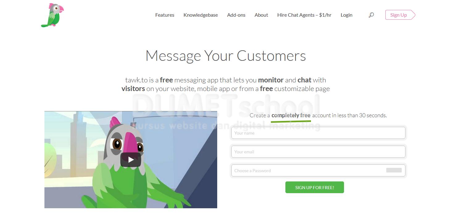 Cara Membuat Menu Live Chat Pada Website