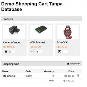 Cara Membuat Shopping Cart tanpa Database
