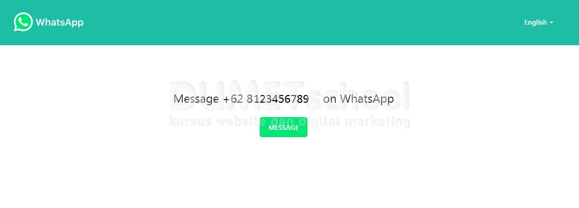 Cara Membuat Pesan Whatsapp Di Website