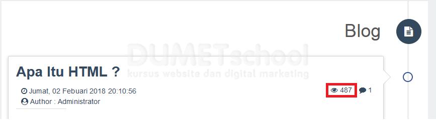 output-cara mencatat jumlah pembaca artikel website dengan php