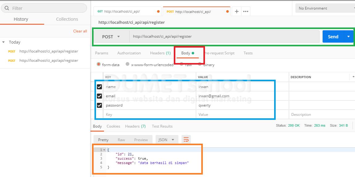 Cara Melakukan Input Data Menggunakan Rest API Pada