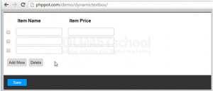 Cara Membuat PHP jQuery Dynamic Textbox