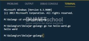Cara Membuat Program Golang Sederhana Hello Word