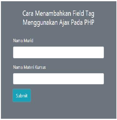 Cara Insert Multiple Tags Menggunakan Ajax di PHP