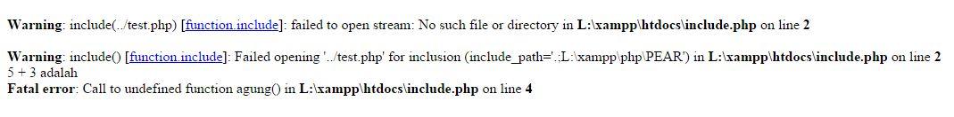 error-include