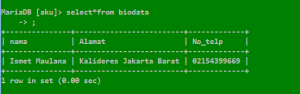 Project Membuat Crud Databases MySQL di COMAND PROMP pada WINDOWS