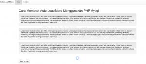 Cara Membuat Auto Load More Menggunakan PHP Mysql part 2