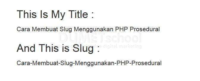 Cara Membuat Slug Menggunakan PHP Prosedural