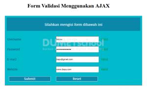 Bagaimana Cara Membuat Form Validation Menggunakan Ajax