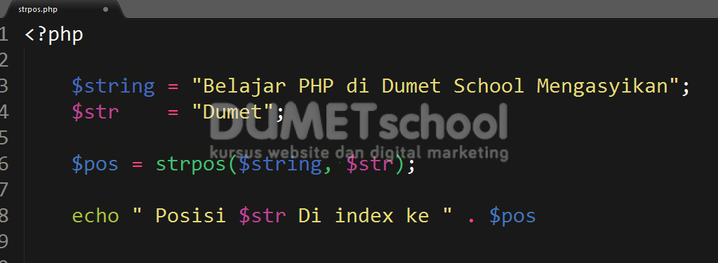 Mengenal Penggunaan Sintaq strpos() Pada PHP