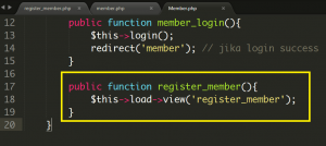 Cara Membuat Register Member Baru Menggunakan Codeigniter Part 1