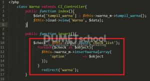 Cara Membuat Input Checkbox Menggunakan Codeigniter dan Mysql