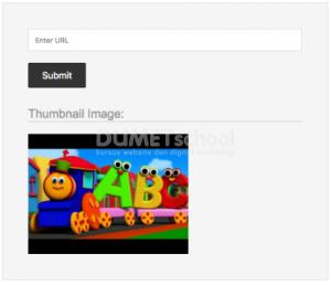 Menampilkan Gambar Thumbnail dari URL Video YouTube menggunakan PHP