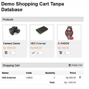 Cara Membuat Shopping Cart tanpa Database