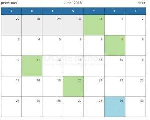 Kalender menggunakan PHP AJAX dengan Plugin Kalender CLNDR
