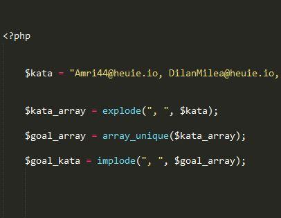 Cara Hapus Duplikasi Isi String Pada PHP