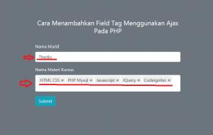 2-Cara Menambahkan Field Tag Menggunakan Ajax Pada PHP
