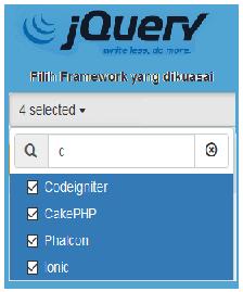 Cara Membuat Multiselect Options Dengan Checkbox Menggunakan Jquery di PHP