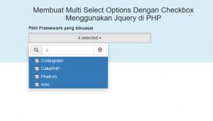 Membuat-Multi Select Options Dengan Checkbox Menggunakan Jquery di PHP