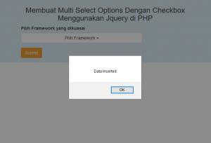 Membuat Multi Select Options Dengan Checkbox Menggunakan Jquery di PHP