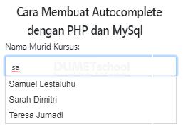 Cara Membuat Autocomplete Dengan PHP dan MySQL