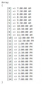 membuat time range di php