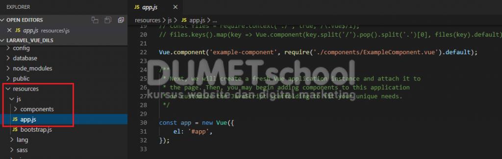 Cara Membuat Component Vue.Js Pada Framework Laravel