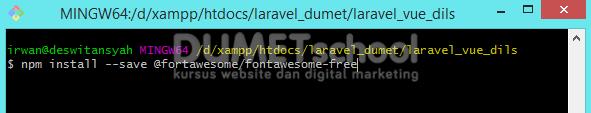 Cara Menginstall Package Pada Laravel Menggunakan NPM